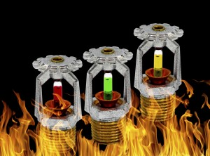 fire sprinkler background.